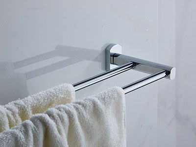 00348 double towel bar Brass