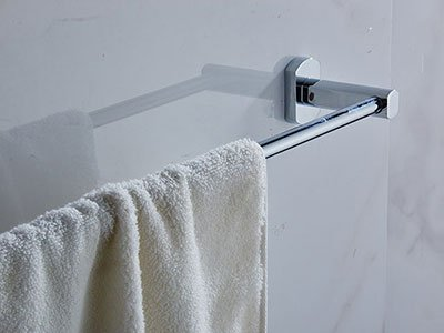 00324 single towel bar brass